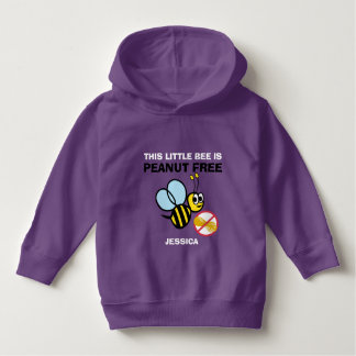 Personalized Peanut Free Bee Kids Cute Do Not Feed Hoodie