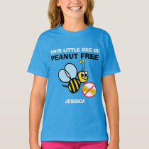 Personalized Peanut Free Bee Kids Cute Do Not Feed T-Shirt