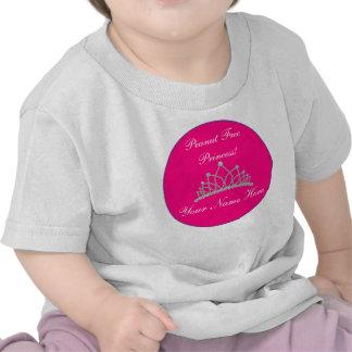 "Personalized ""Peanut Free Princess"" Design Tshirts"