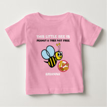 Personalized Peanut Tree Nut Free Bee Kids Cute Baby T-Shirt