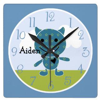 Personalized Peek A Boo Monster Kids Clock Clock