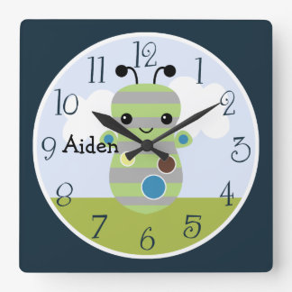 Personalized Peek A Boo Monster Kids Clock
