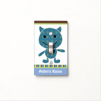 Personalized Peek a Boo Monster Switch Plate