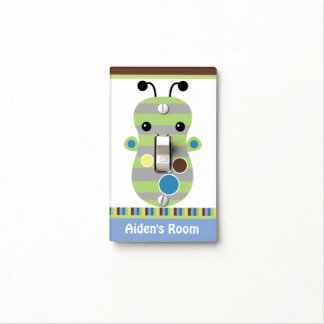 Personalized Peek a Boo Monster Switch Plate Switch Plate Covers
