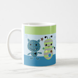 "Personalized ""Peek a Boo Monsters"" Mug Adorable"