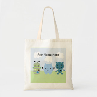 Personalized Peek a Boo Monsters Tote Bag