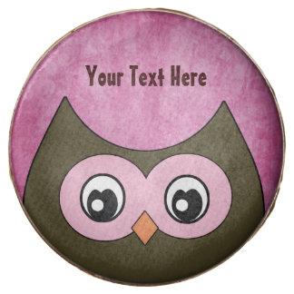 Personalized Peek a Boo Owl Chocolate Covered Oreo