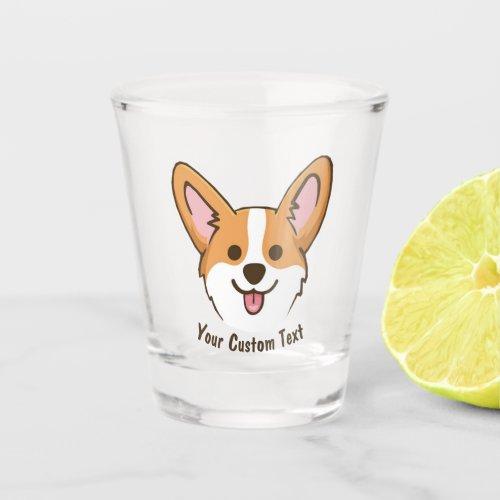 Personalized Pembroke Welsh Corgi Puppy Dog Stars Shot Glass