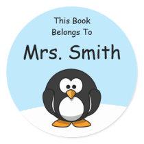 Personalized Penguin Book Label