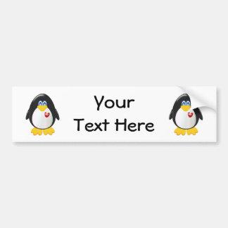 Personalized Penguin Car Bumper Sticker