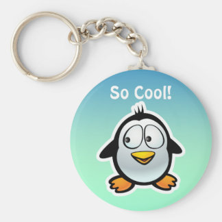 Personalized Penguin Cartoon Keychain