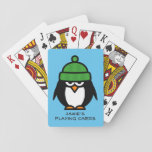 "Personalized penguin design playing cards for kids<br><div class=""desc"">Personalized penguin design playing cards for kids. Cute gift idea for children with custom name and funny animal cartoon. Make one for son,  daughter,  granddaughter,  grandson,  grandchild,  cousin etc.</div>"