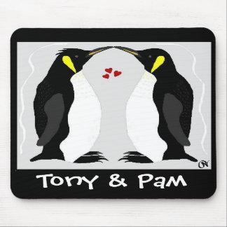 Personalized Penguin Love Mousepad