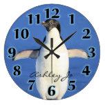 Personalized Penguin  Wall Clock Clock