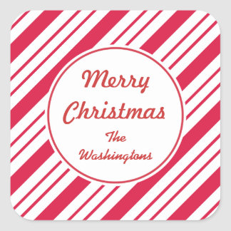 Personalized Peppermint Christmas Gift Stickers