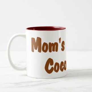 Personalized peppermint hot cocoa mugs for mom.