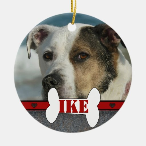 Personalized Pet Dog Bone Photo Frame Christmas Christmas Ornament