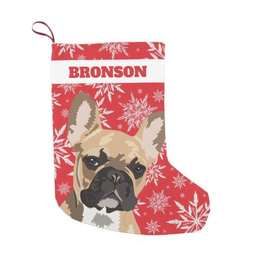 personalized pet dog french bulldog gift small christmas stocking