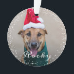"""Personalized Pet Dog Puppy Holiday Photo Ornament<br><div class=""""desc"""">Personalized Pet Dog Puppy Holiday Photo Ornament</div>"""