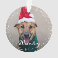 Personalized Pet Dog Puppy Holiday Photo Ornament