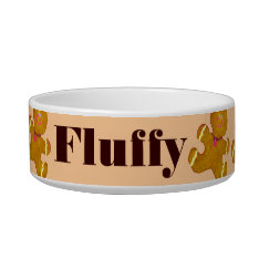 Personalized Pet Holiday Gingerbread Cookies Bowl at Zazzle