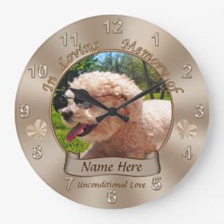 Personalized Pet Memorial Gifts Name, Photo Clock