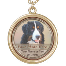 Personalized Pet Memorial Necklaces PHOTO and TEXT