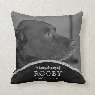 Personalized Pet Memorial Photo | Dog Condolence Throw Pillow