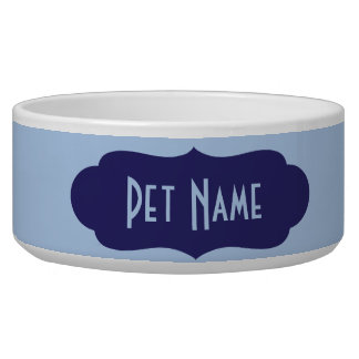 Personalized Pet Name (Blue) Food or Water Dish