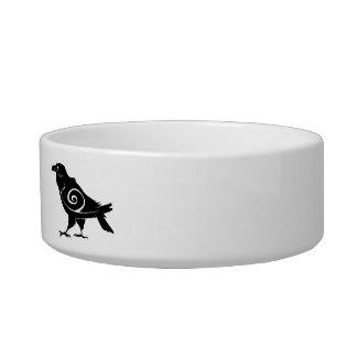 Personalized Pet Name Tribal Raven Bowl