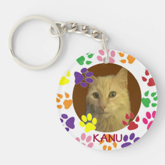 Personalized Pet Photo and Name Keychain