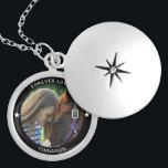 """Personalized Pet Photo Horse Equestrian Name Star Locket Necklace<br><div class=""""desc"""">Your Custom Name and caption in minimal modern typography surrounding a favorite photo of your beloved horse. This neckalce will be a perfect memory keepsake for years to come.</div>"""
