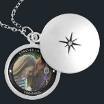 "Personalized Pet Photo Horse Equestrian Name Star Locket Necklace<br><div class=""desc"">Your Custom Name and caption in minimal modern typography surrounding a favorite photo of your beloved horse. This neckalce will be a perfect memory keepsake for years to come.</div>"