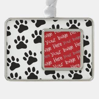 Personalized Pet Photo Paw Prints Ornament