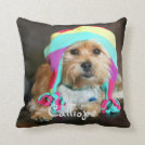 16x16_poly - Personalized Pet Photo Pillow.  Makes a great gift!  Back color can be customized to any color of your choosing.