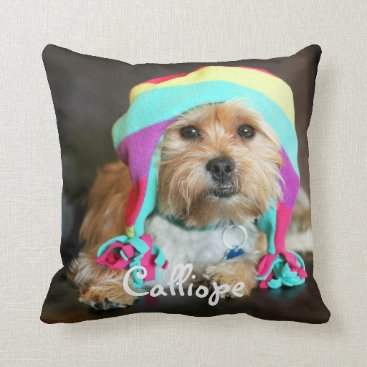 Christmas Themed Personalized Pet Photo Pillow