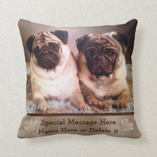 Personalized Pet Photo Pillow Your Photo And Text at Zazzle