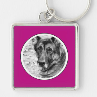Personalized Pet Photo Pink Frame Key Chain