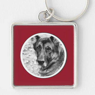 Personalized Pet Photo Red Frame Key Chain