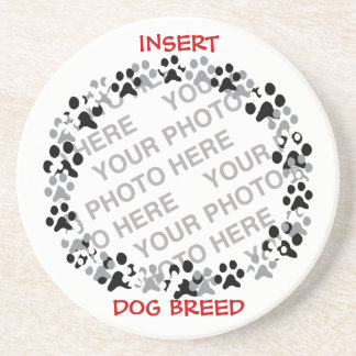 Personalized Pet Photo Sandstone Coaster