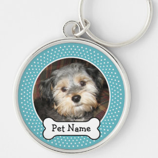 Personalized Pet Photo with Dog Bone Key Chain