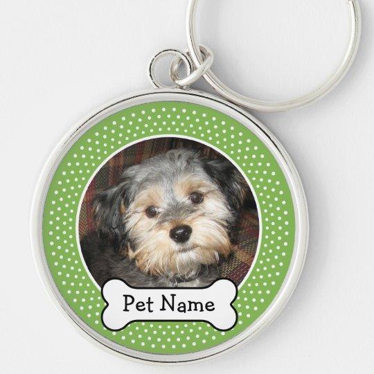 Personalized Pet Photo with Dog Bone Keychain