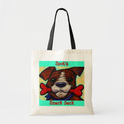 Personalized Pet's Name Dog Treat Bones Tote Bag