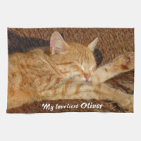 Personalized pet's photo towel