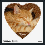 """Personalized pet&#39;s photo wall decal<br><div class=""""desc"""">Add photo of your most loved pet and easily fill in his or her name. You can add your own creative text too, if you wish. If you like photo of this lying relaxing cat, you can have it too! Fill in your text, or delete it. Be creative and have...</div>"""