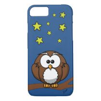 Personalized Phone Case with Cute Owl at Night