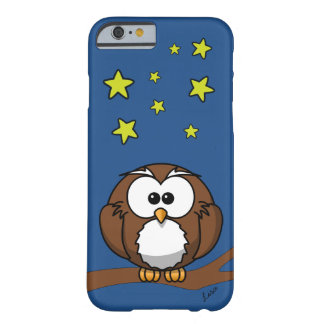 Personalized Phone Case with Cute Owl at Night Barely There iPhone 6 Case