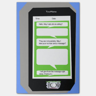 Personalized Phone Message Pad on Post It Note