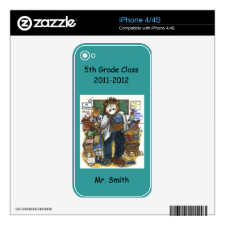 Personalized Phone Skin for Teacher Skins For iPhone 4