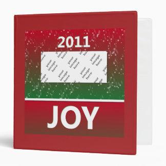 Personalized Photo 2011 Christmas Snow Joy Binder